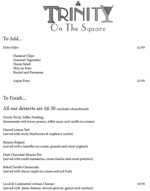 Trinity on the Square Preston Brasserie Restaurant menu-3