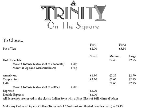 Trinity on the Square Preston Brasserie Restaurant menu-4